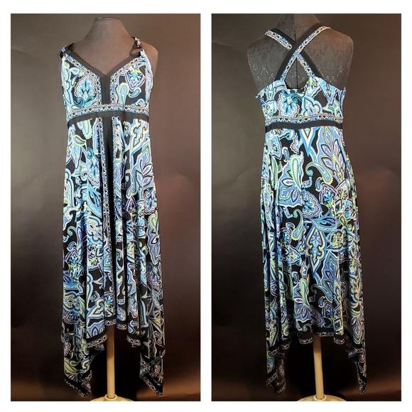 3989a6f2bec3b INC International Concepts Dresses | Inc Blue Black Green Summer ...